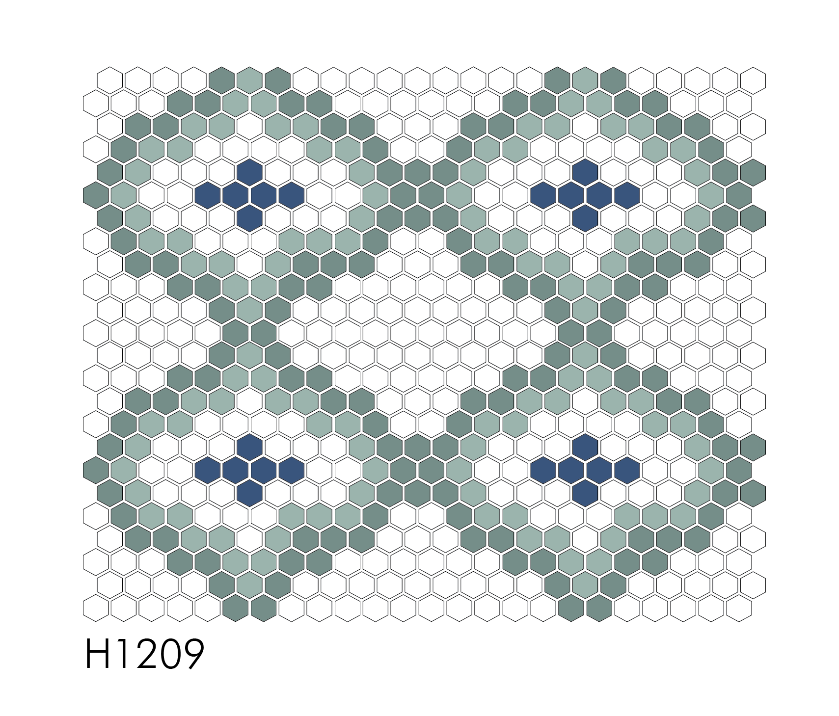 "H1209 1"" Hexagon Mosaic"
