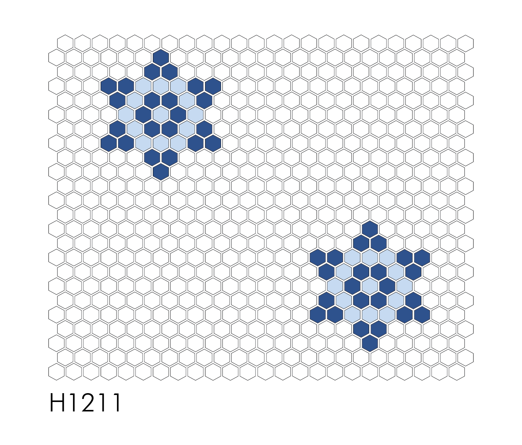 "H1211 - Single Star 1"" Hexagon Mosaic"