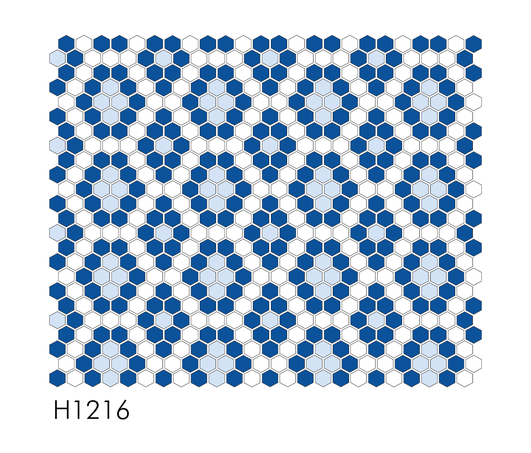 "H1216 Modern Geo 1"" Hexagon Mosaic"
